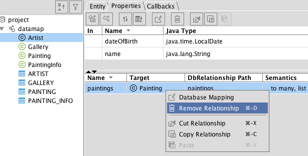 Cayenne Database First tutorial · Apache Cayenne